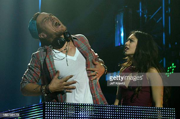 Michael Shannon and Vanessa Hudgens perform onstage at the YouTube Music Awards 2013 on November 3 2013 in New York City
