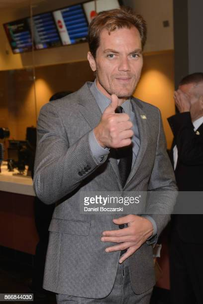 Michael Shannon attends the closing night screening of 'The Shape Of Water' at AMC River East Theater on October 26 2017 in Chicago Illinois