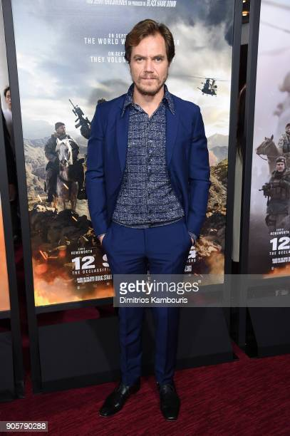 "Michael Shannon attends the world premiere of ""12 Strong"" at Jazz at Lincoln Center on January 16, 2018 in New York City."