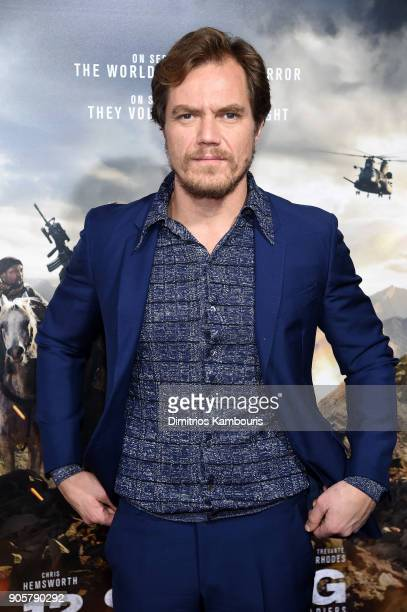 Michael Shannon attends the world premiere of '12 Strong' at Jazz at Lincoln Center on January 16 2018 in New York City