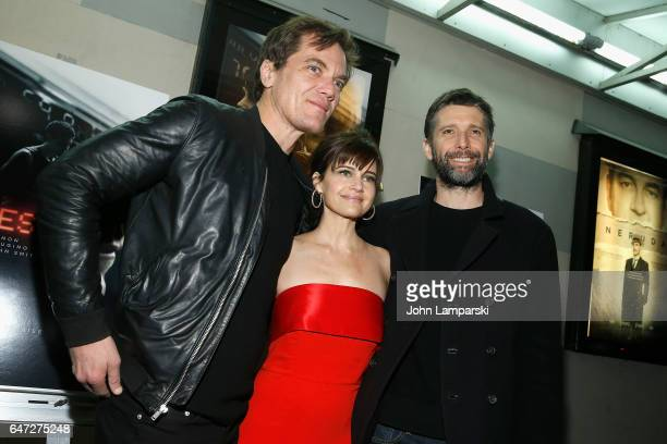 Michael Shannon Carla Gugino and Bart Freundlich attend 'Wolves' special screening at IFC Center on March 2 2017 in New York City