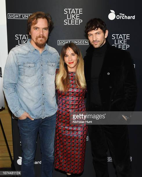 Michael Shannon Director Meredith Danluck Michiel Huisman attend the State Like Sleep New York Screening at Crosby Street Theater on December 19 2018...