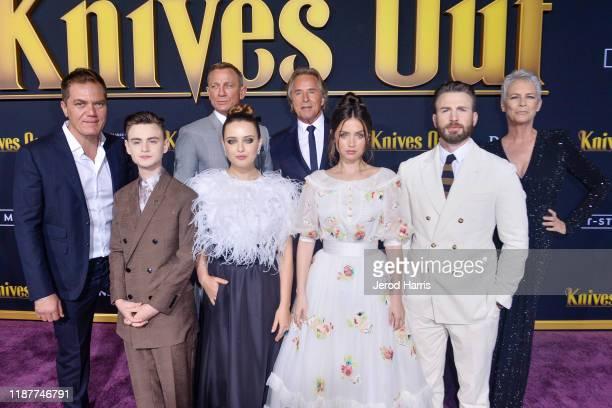 Michael Shannon, Jaeden Martell, Daniel Craig, Katherine Langford, Don Johnson, Ana de Armas, Chris Evans and Jamie Lee Curtis arrive at the Premiere...