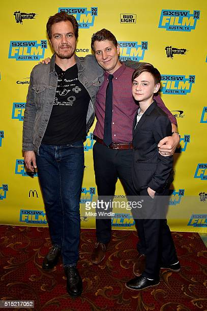 Michael Shannon Jeff Nichols and Jaeden Lieberher attend the screening of 'Midnight Special' during the 2016 SXSW Music Film Interactive Festival at...
