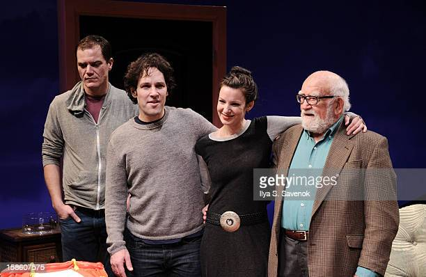Michael Shannon Paul Rudd Kate Arrington and Ed Asner of 'Grace' attend Cort Theatre Centennial Celebration at Cort Theatre on December 20 2012 in...