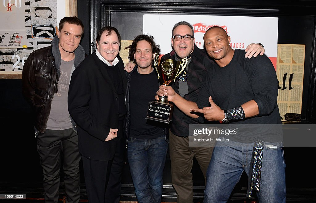 Michael Shannon, Richard Kind, Paul Rudd, David Zayas and Eddie George attend LAByrinth Theater Company Celebrity Charades 2013 Benefit Gala at Capitale on January 14, 2013 in New York City.