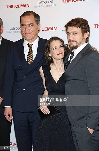 Michael Shannon Winona Ryder James Franco attend the The Iceman screening presented by Millennium Entertainment and GREY GOOSE at Chelsea Clearview...