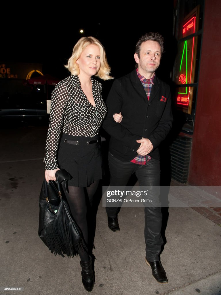 Michael Sheen and Carrie Keagan are seen on January 17, 2014 in Los Angeles, California.