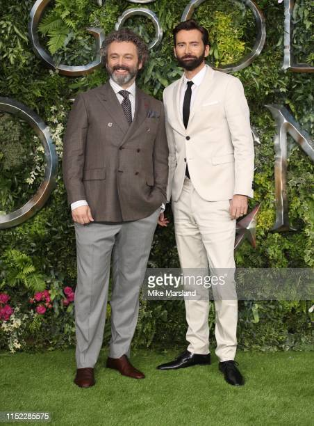Michael Sheen and David Tennant attend attends the Global premiere of Amazon Original Good Omens at Odeon Luxe Leicester Square on May 28 2019 in...