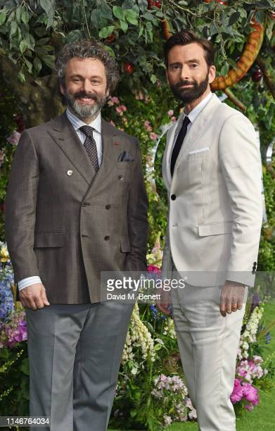 """Michael Sheen and David Tennant attend the World Premiere of new Amazon Original """"Good Omens"""" at the Odeon Luxe Leicester Square on May 28, 2019 in..."""