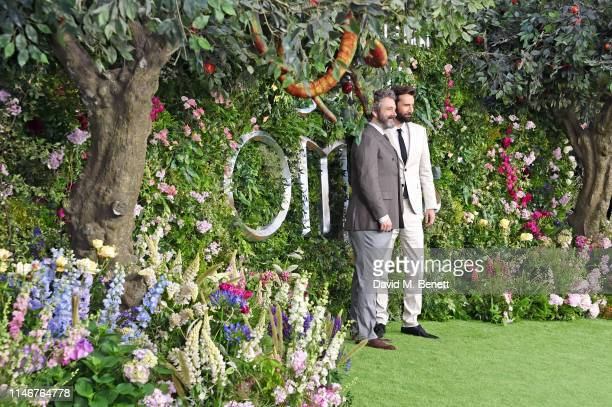 Michael Sheen and David Tennant attend the World Premiere of new Amazon Original Good Omens at the Odeon Luxe Leicester Square on May 28 2019 in...