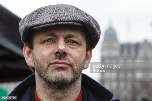 Michael Sheen attends a march calling for gender equality organised by Care International on March 4 2018 in London England