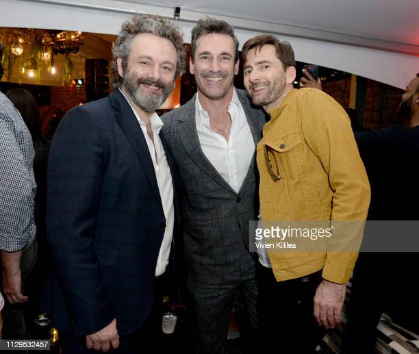 "Michael Sheen, Jon Hamm and David Tennant attend Entertainment Weekly + Amazon Prime Video's ""Saints & Sinners"" Party At SXSW on March 9, 2019 in..."