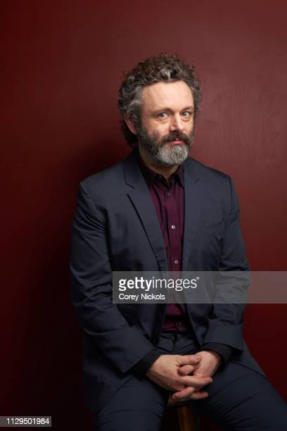 Michael Sheen of Amazon Prime Video's 'Good Omens' poses for a portrait at The Langham Huntington Pasadena on February 13 2019 in Pasadena California
