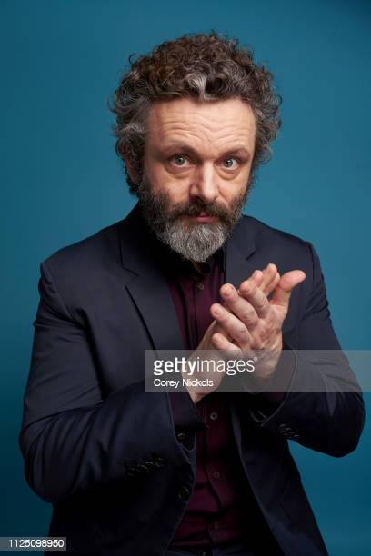 Michael Sheen of Amazon Prime's 'Good Omens' poses for a portrait at The Langham Huntington Pasadena on February 13 2019 in Pasadena California