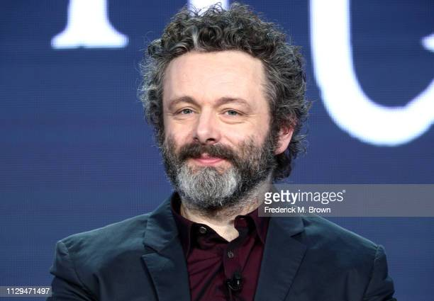 Michael Sheen of the television show 'Good Omens' speaks during the Amazon Prime Video Session of the 2019 Winter Television Critics Association...
