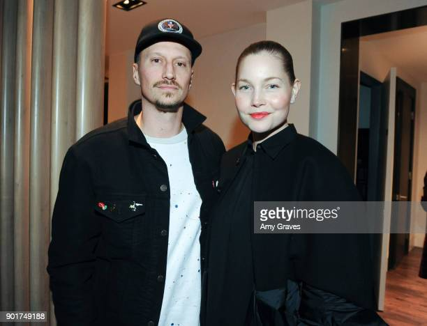 Michael Sherman and Carrie Tivador attend the Above the Penthouse Welcome hClub Los Angeles members to Hollywood at The Residences At W Hollywood on...