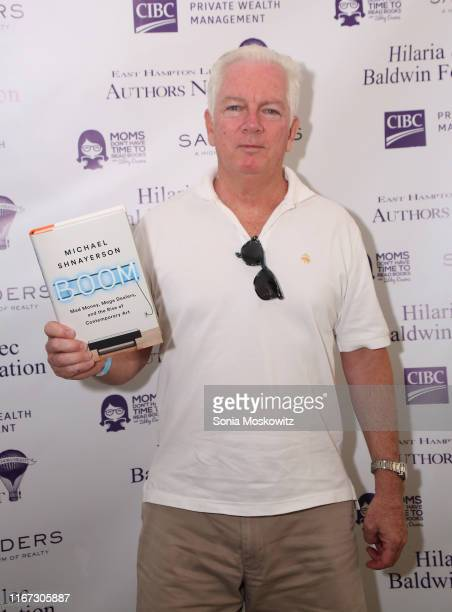 Michael Shnayerson at the East Hampton Library's 15th Annual Authors Night Benefit on August 10 2019 in Amagansett New York