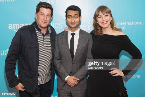 Michael Showalter Kumail Nanjiani and Emily V Gordon attend the 43rd Seattle International Film Festival Opening Night at McCaw Hall on May 18 2017...
