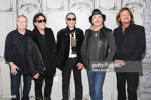 Michael Shrieve Neil Schon Michael Carabello Carlos Santana and Gregg Rolie attend AOL Build Speaker Series Santana IV at AOL Studios In New York on...