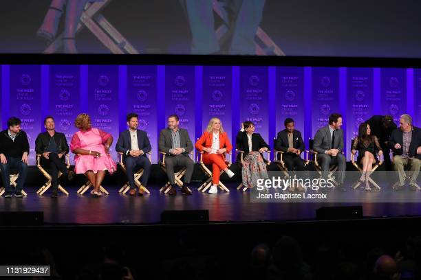 Michael Shur Rob Lowe Retta Adam Scott Nick Offerman Amy Poehler Rashida Jones Aziz Ansari Chris Pratt Aubrey Plaza and Jim O'Heir attend the Paley...