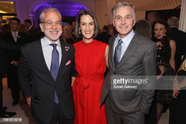 Michael Sillerman Whitney Donhauser and Jamie Dinan attend Museum Of The City Of New York Louis Auchincloss Prize Gala at Museum of the City of New...