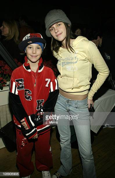 Michael Silverman and Kristen Stewart during 2004 Sundance Film Festival Showtime Party at The Riverhorse Cafe in Park City Utah United States