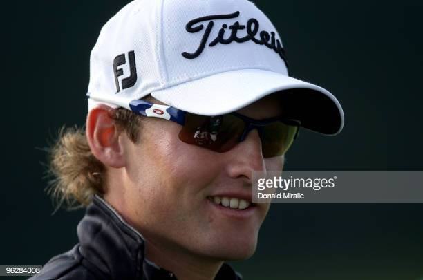 Michael Sim of Australia looks on during the third round of the 2010 Farmers Insurance Open on January 30, 2010 at Torrey Pines Golf Course in La...