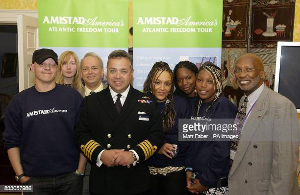 Michael Simon Imogen Ashfield Clay Maitland Captain David Marks Chantelle Wright Saphra Ross and Bill Minter at the launch of the Amistad Freedom...