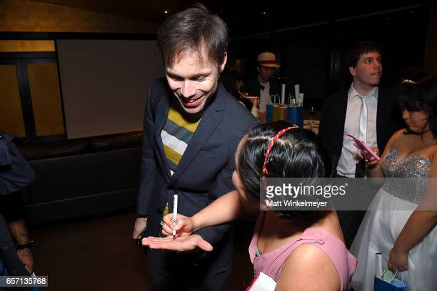 Michael Sinterniklaas and Stephanie Sheh attend Funimation Films presents 'Your Name' Theatrical Premiere in Los Angeles CA at Yamashiro Hollywood on...