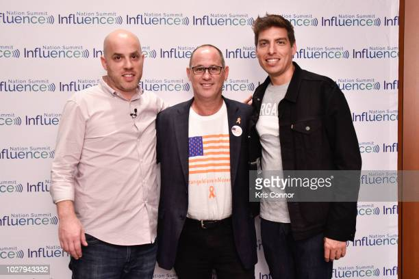 Michael Skolnik Fred Guttenberg and Derrick Feldmann attend the Influence Nation Summit 2018 At National Geographic at the National Geographic...