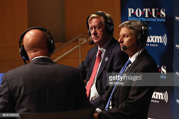 Michael Smerconish Vice Presidential Candidate Governor William Weld and Presidential Candiddate Governor Gary Johnson attend the SiriusXM...