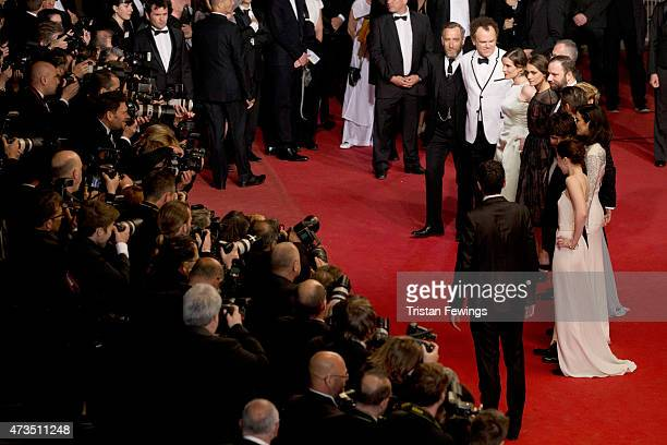 Michael Smiley John C Reilly Angeliki Papoulia Ariane Labed and Yorgos Lanthimos attend the Premiere of 'The Lobster' during the 68th annual Cannes...