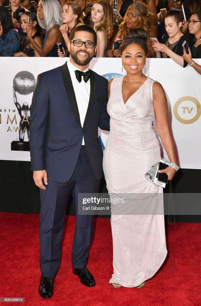 Michael Smith and Jemele Hill (R) at the 49th NAACP Image Awards on January 15, 2018 in Pasadena, California.