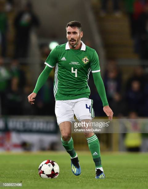 Michael Smith of Northern Ireland during the international friendly football match between Northern Ireland and Israel at Windsor Park on September...