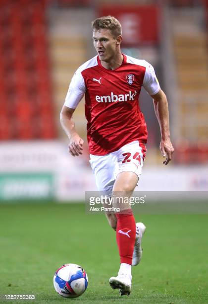Michael Smith of Rotherham during the Sky Bet Championship match between Rotherham United and Sheffield Wednesday at AESSEAL New York Stadium on...