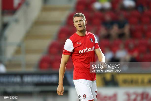Michael Smith of Rotherham United during the preseason friendly between Rotherham United v West Bromwich Albion at AESSEAL New York Stadium on July...