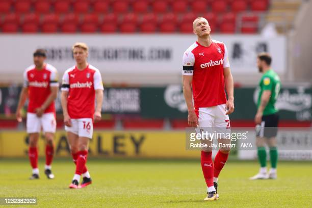 Michael Smith of Rotherham United reacts at full time during the Sky Bet Championship match between Rotherham United and Birmingham City at AESSEAL...