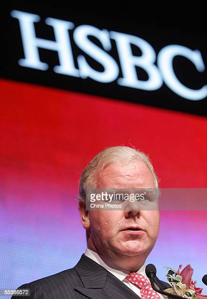 Michael Smith President and Chief Executive Officer of the Hong Kong and Shanghai Banking Corporation attends a media conference about the opening of...