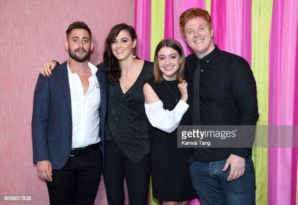 Michael Socha Kelly Wenham Georgia Groome and Danny Morgan attend the UK premiere of 'Double Date' at The Soho Hotel on October 10 2017 in London...