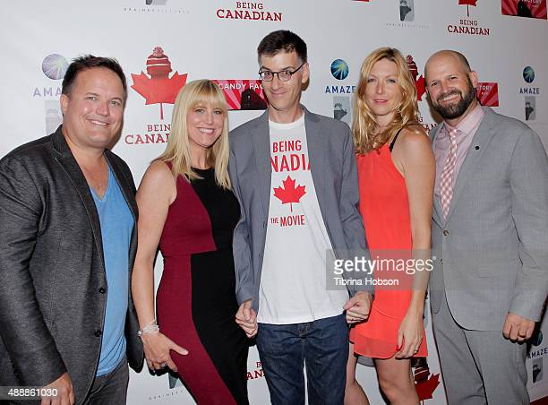 Michael Souther Teza Lawrence Robert Cohen Megan Raney Aarons and Colin Gray attend the premiere of 'Being Canadian' at Crest Westwood on September...