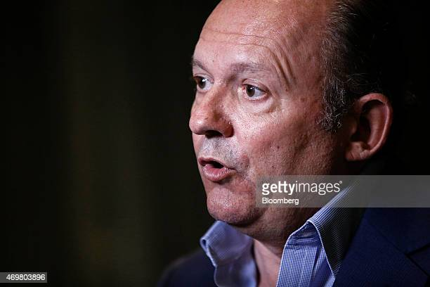 Michael Spencer chief executive officer of ICAP Plc speaks during a Bloomberg Television UK General Election 'City' debate in London UK on Wednesday...