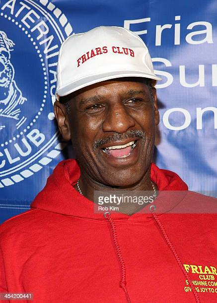 Michael Spinks attends the Cloudy With A Chance of Meatballs 2 Holiday Screening hosted by The Friar's Club at Ziegfeld Theater on December 7 2013 in...