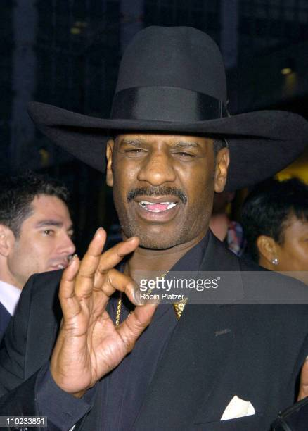 Michael Spinks during The Broadway Opening of Julius Caesar starring Denzel Washington April 3 2005 at The Belasco Theatre and Gotham Hall in New...