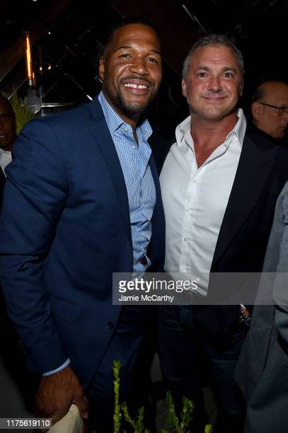 Michael Stahan and Shane McMahon attend the Cincoro Tequila launch at CATCH Steak on September 18 2019 in New York City
