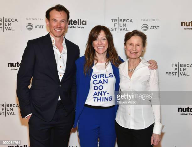 Michael Stanish Helen O'Hanlon and Emily Arnold McCully attend the Shorts Program Mirette during Tribeca Film Festival at Regal Battery Park 11 on...