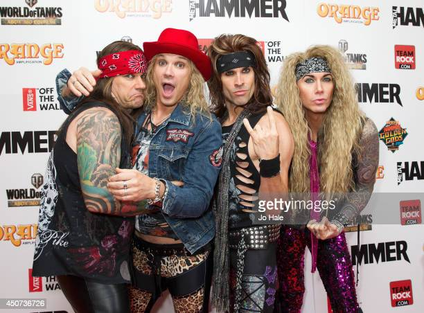 Michael Starr of Steel Panther with has band attends the Metal Hammer Golden Gods awards at Indigo2 at O2 Arena on June 16 2014 in London England