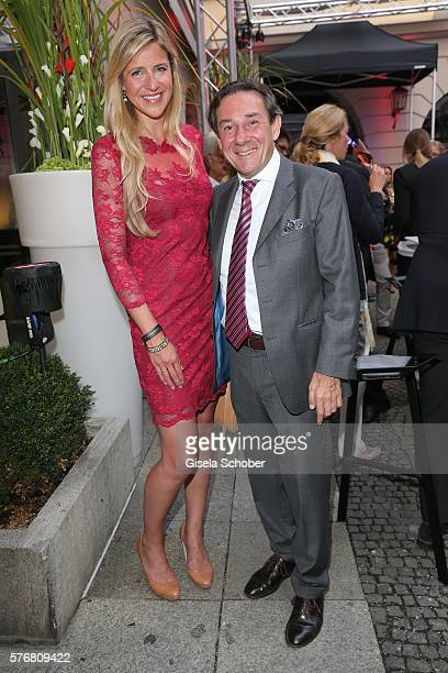 Michael Staudinger and Linda Gieseke during the Mercedes-Benz reception at 'Klassik am Odeonsplatz' 2016 on July 17, 2016 in Munich, Germany.