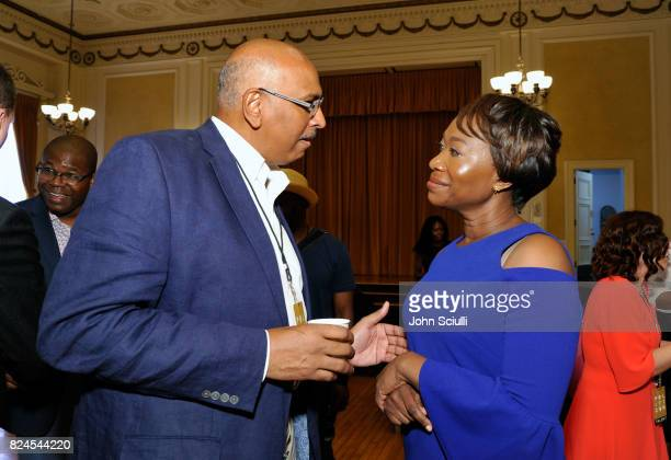 Michael Steele and JoyAnn Reid at Politicon at Pasadena Convention Center on July 30 2017 in Pasadena California