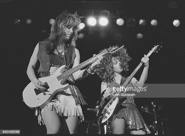 Michael Steele and Susanna Hoffs play together on stage with their band The Bangles